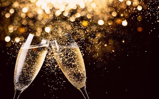 Firande med champagneskål