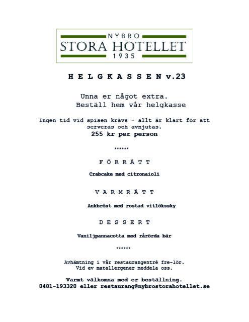 Helg-kasse v. 23